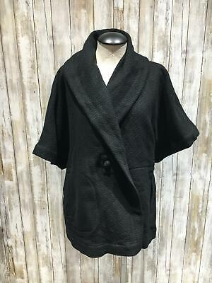Eileen Fisher women blazer jacket size L black B100