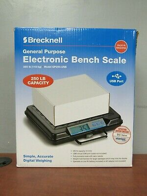 Brecknell Gp250-usb General Purpose Electronic Bench Scale 250lb Capacity 35fl