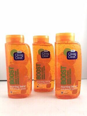 Lot of 3 Clean & Clear Morning Burst Boost Body Wash Mango Papaya 16oz