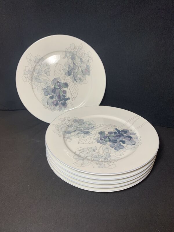 "Block Spal Hydrangea Dinner Plates 10 1/2"" Set Of 6"