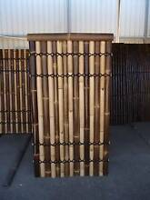 1.8M x 1M BLACK/YELLOW BAMBOO FENCE, SCREENING - DOUBLE Lacquered Granville Parramatta Area Preview