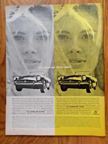 1965 Sunbeam Alpine Sports Car by Rootes England Ad Alpine & Tiger