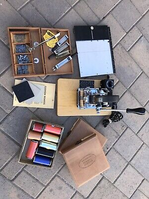 Kingsley Embossing Hot Stamp Machine M-50 With Extras