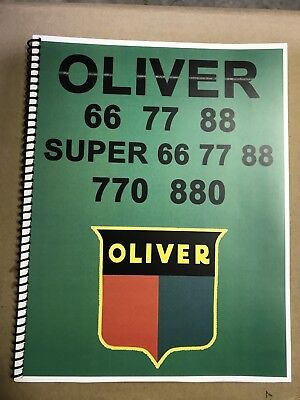 Super 88 Oliver Tractor Technical Service Shop Repair Manual Model 88 Super