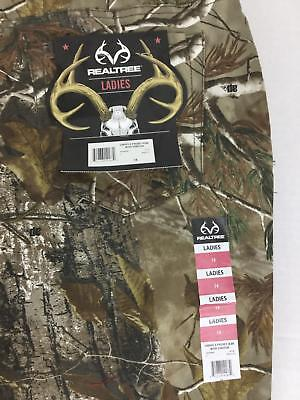 Realtree Women's Camo 5 Pocket Jeans 14 NWT Stretch Hunting Green Brown New