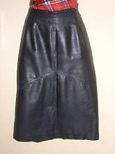Black leather straight-line skirt size 10-12 Kogarah Rockdale Area Preview