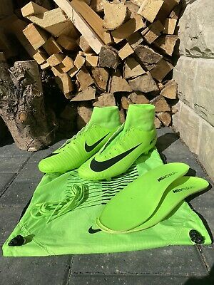 Nike Mercurial Superfly V Green FG SG Football Sock Boots UK 8.5 US 9 RRP £120+