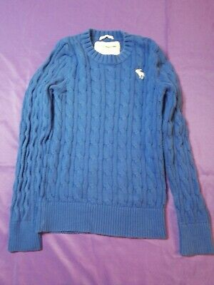 "Abercrombie & Fitch Muscle Fit Blue Pullover Sweater M Long Sleeve ""D039"""