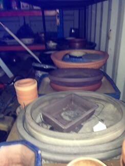 Bonsai Pots many sizes over 150 available most unused $5000