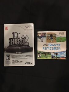 DJ Hero 2 and Wii Sports Video Games