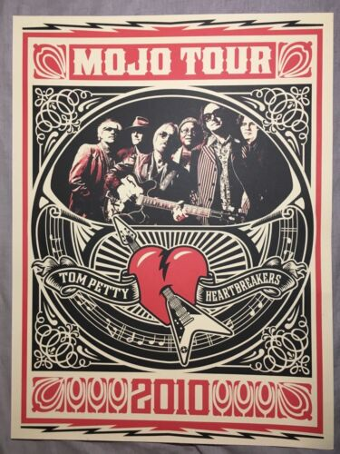 Tom Petty and the Heartbreakers - poster - Mojo Tour 2010  - Shepard Fairey Mojo