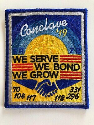 OCCONEECHEE OA LODGE 104 BSA COUNCIL 2004 SECTION SR-7B CONCLAVE DELEGATE FLAP