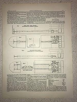 Twin Screw Cargo Steamer: Turbines And Gearing: 1912 Engineering Magazine Print