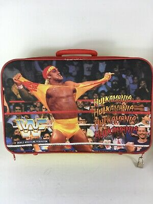 Vintage WWF Hulk Hogan Kids Suitcase Titansports Hulkamania Rare! Small Version