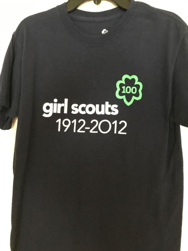 Girl Scout Women's 100th Anniversary T-Shirt, Navy, Size Small