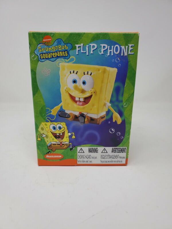 Nickelodeon Spongebob Squarepants Flip Phone