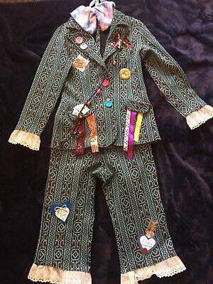 MAD HATTER Alice In Wonderland 1 Of A Kind Halloween Costume Bandolier Coat Pant