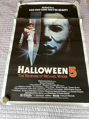 HALLOWEEN 5 Original Movie poster. Folded.