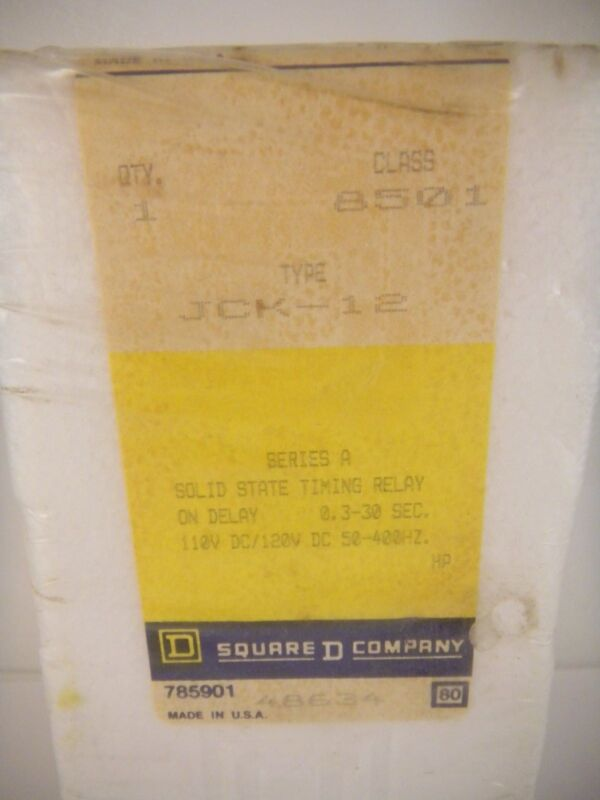SQUARE D TIMING RELAY 8501 JCK-12 *SEALED BOX/NEW SURPLUS*