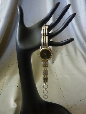 Custom Sterling Silver & 14KT  Band Tips Movado 8164112 Museum Women