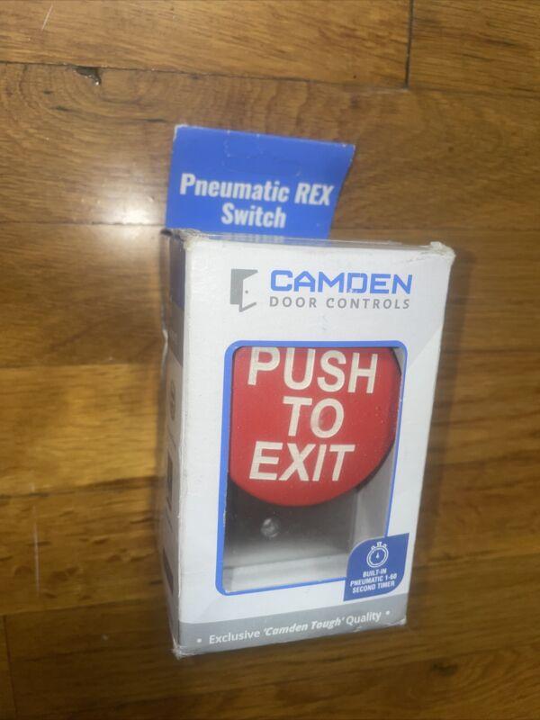 CAMDEN CM-5085RPTE Red Pneumatic Mushroom Button Switch w/ Timer