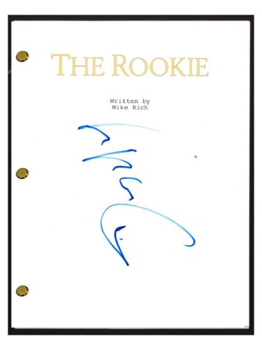 Dennis Quaid Signed Autographed THE ROOKIE Movie Script Screenplay COA