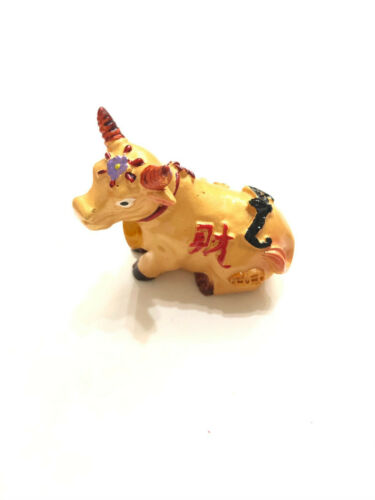 2021 MINI CHINESE NEW YEAR OF THE GOLDEN OX COW STATUE FIGURINE