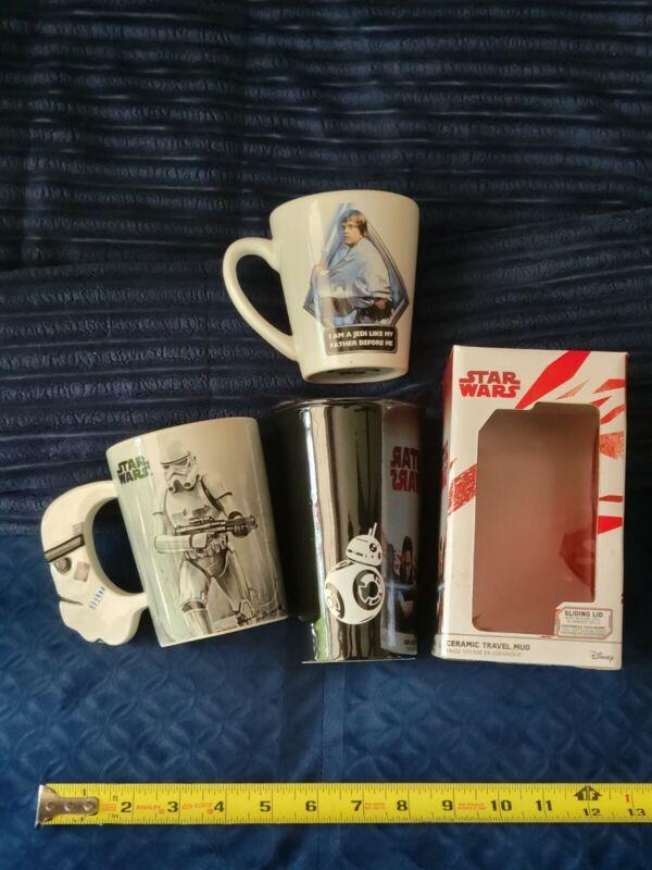 Star Wars Ceramic Travel Mug & Coffee Cups BB-8 Stormtrooper Luke