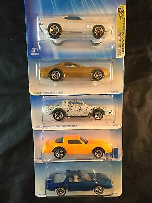 Hot Wheels Lot of 5 2005 1969 Pontiac Firebird Hot Bird #469 449 462 Camaro Z28