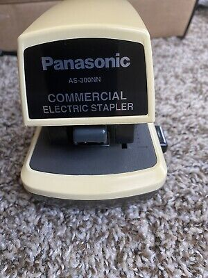 Panasonic Electric Stapler As-300nn Commercial Desktop Heavy Duty