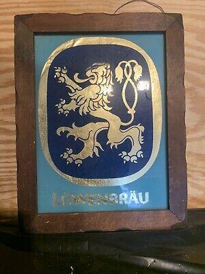 """19"""" X 15""""Vintage Framed Lowenbrau Beer Beverage Mirror Alcohol Bar Sign Man Cave"""