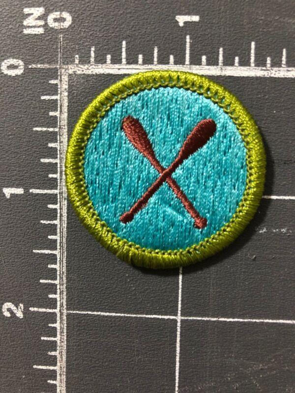 Vintage Boy Scouts of America BSA Canoeing Merit Badge Patch Paddles Oars Canoe