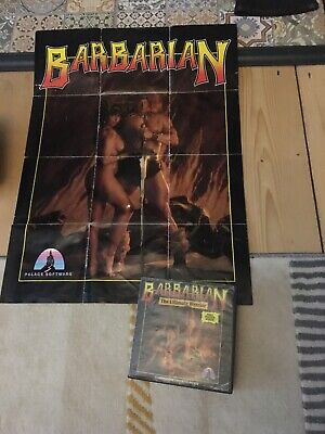 Barbarian The Ultimate Warrior Commodore 64 C64 C128 Cassette Tape Game Poster