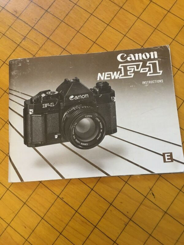 Canon NEW F-1 Instructinons