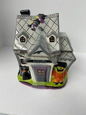 Halloween Ghost House Ceramic Cookie Jar 2008