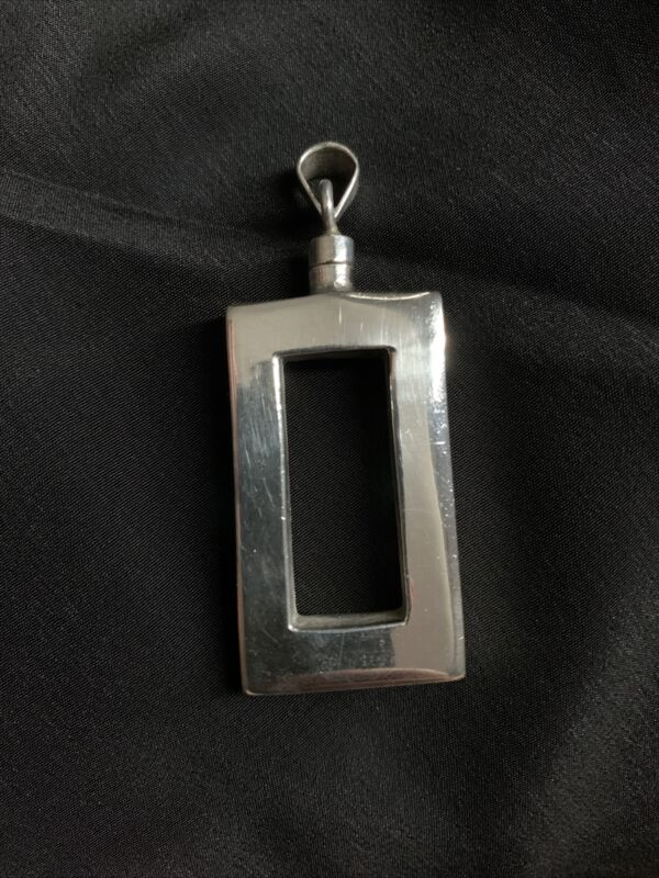 Vintage Taxco Sterling Silver Perfume Bottle Pendant (Mexico TC-123 925)
