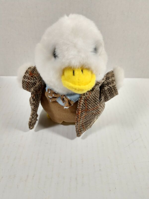 Aflac Sherlock Holmes Suit with Glass Eye Piece Duck Talking Toy HTF RARE