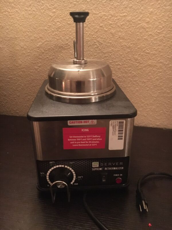 Server 81140 FSPW-SS Nacho Cheese/Fudge Topping Dispenser & Condiment Warmer