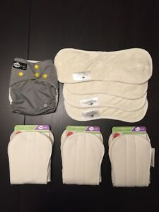 BNWT Funk Fluff Diaper and 3 Bamboo/Hemp Soaker sets