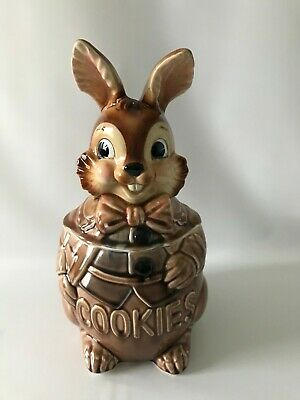 Vintage Brown Rabbit Cookie Jar Royal Sealy Japan