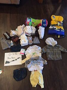 0-3 month boy clothes and more OBO