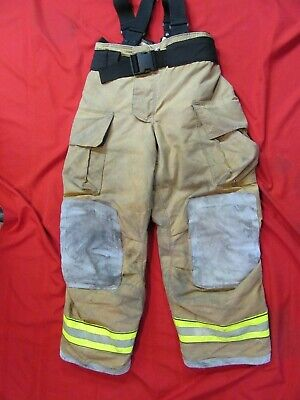 Mfg. 2013 Globe Gxtreme 36 X 32 Firefighter Turnout Bunker Pants Suspenders