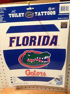 Florida gators toilet tattoo toilet seat removable decor toilet tattoos ebay - Florida gators bathroom decor ...