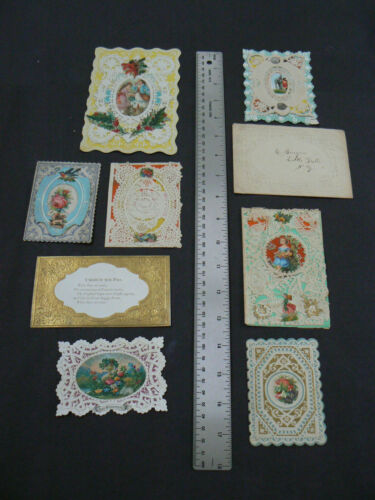 8 Valentines, 1860-1900 Including 4 Whitneys & 2 McLoughlin