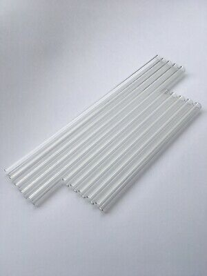 10 Pc Set Five 12 Five 8 12 Mm Od 8 Id Glass Pyrex Blowing Tubes 2 Mm Thick