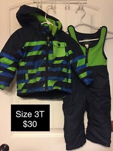Toddler boys size 3 & 4 snow suits & jackets
