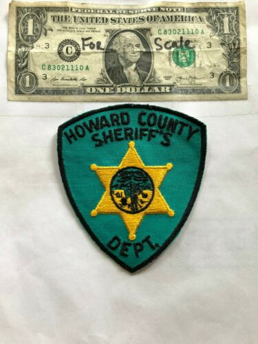 Very Rare Howard County Iowa Police Patch Un-sewn great shape