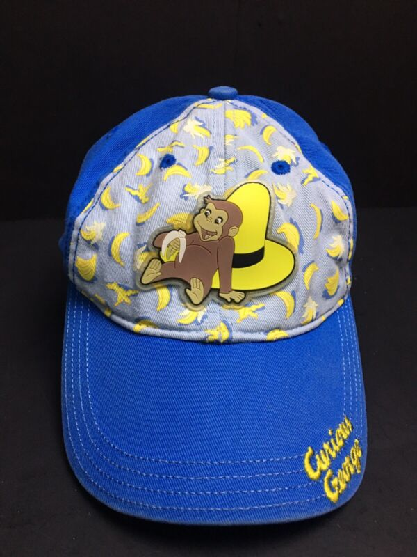Curious George Cap - Child/Toddler - VERY RARE - Blue/Yellow - FREE SHIPPING