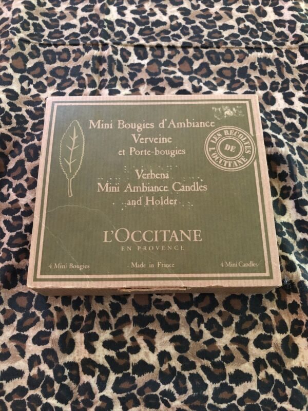 New L'occitane MINI BOUGIES d'ambiance Verveine MINI AMBIANCE CANDLES & HOLDER