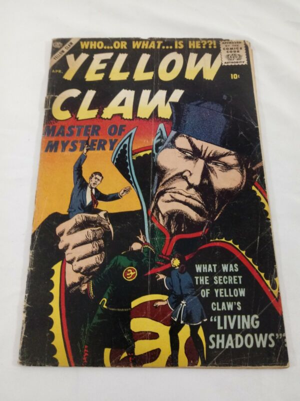 RARE 1957 YELLOW CLAW #4  Atlas Comics- Jack Kirby- last issue VG COMPLETE
